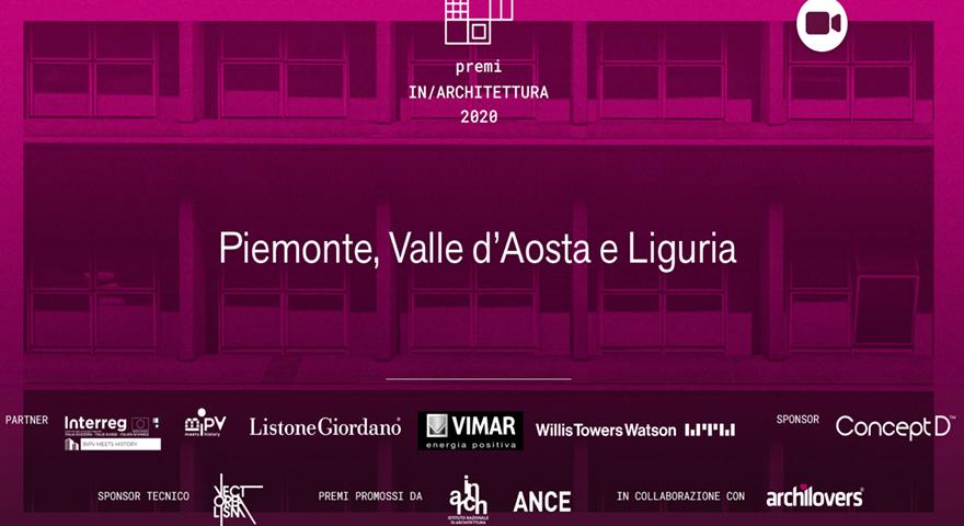 cerimonia di premiazione dei premi inarchitettura 2020 di Piemonte, Liguria e Valle d'Aosta